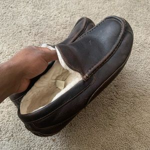 UGG Australia Men's Ascot Leather Slippers